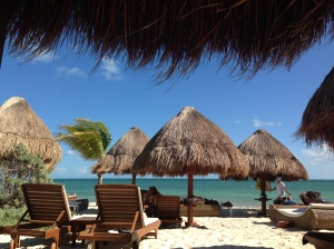 View from the Tiki Hut Bed in Mexico!