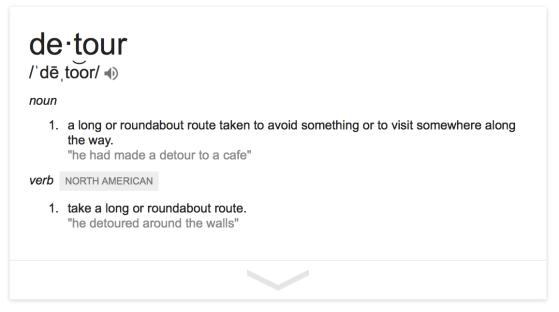 Starr haigler detour definition