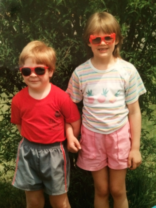 The dynamic duo: Casey and Starr, 1987 (likely the year we crashed the T1000 in the ditch...all our fault