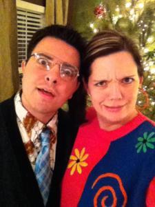 tacky christmas sweater Starr haigler